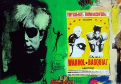 Ronald Chapeau | Warholl vs Basquiat in green & white